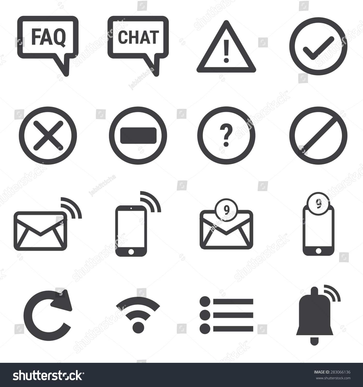 Notification icons stock vector 283066136 shutterstock notification icons biocorpaavc