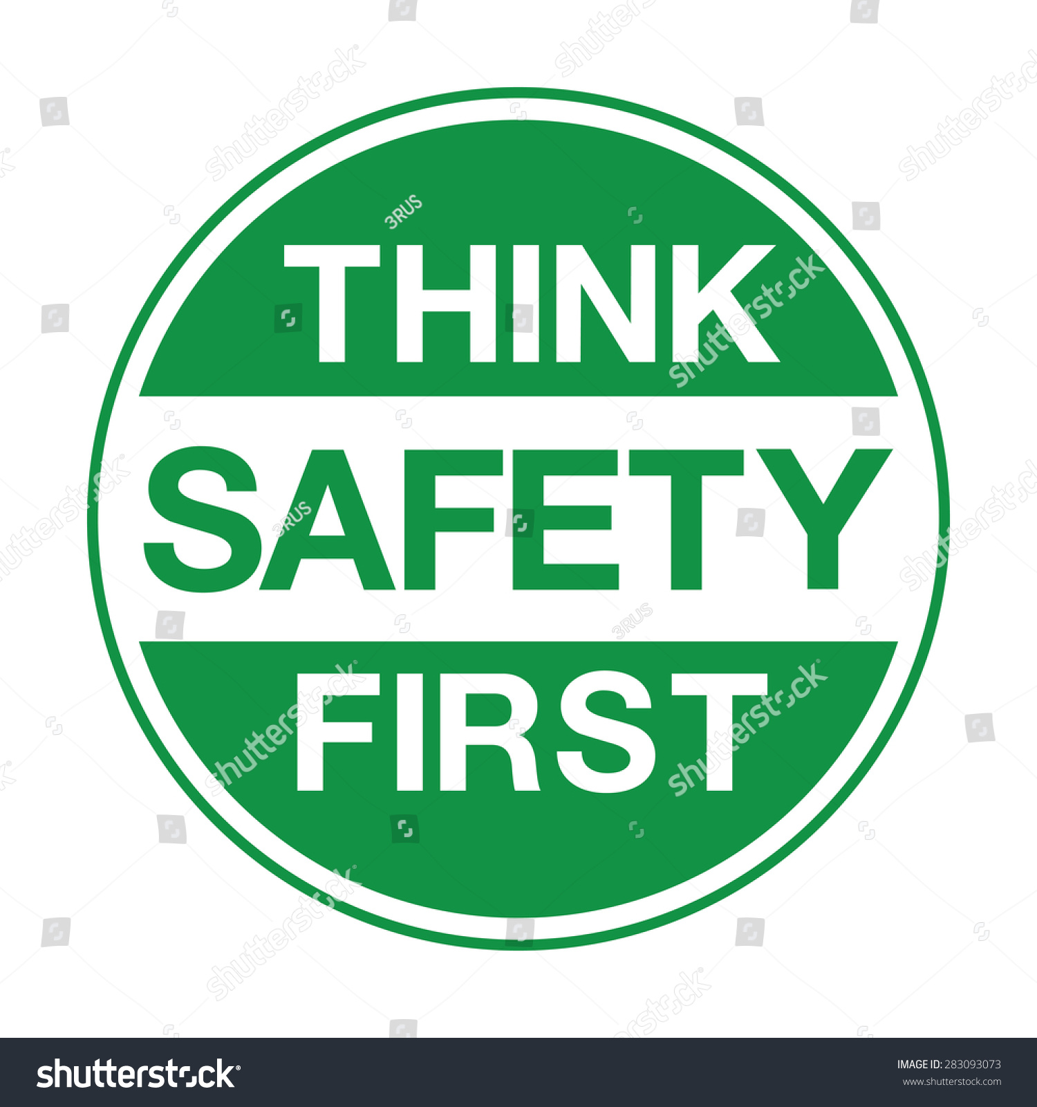 Think Safety First Symbol Stock Vector Royalty Free 283093073