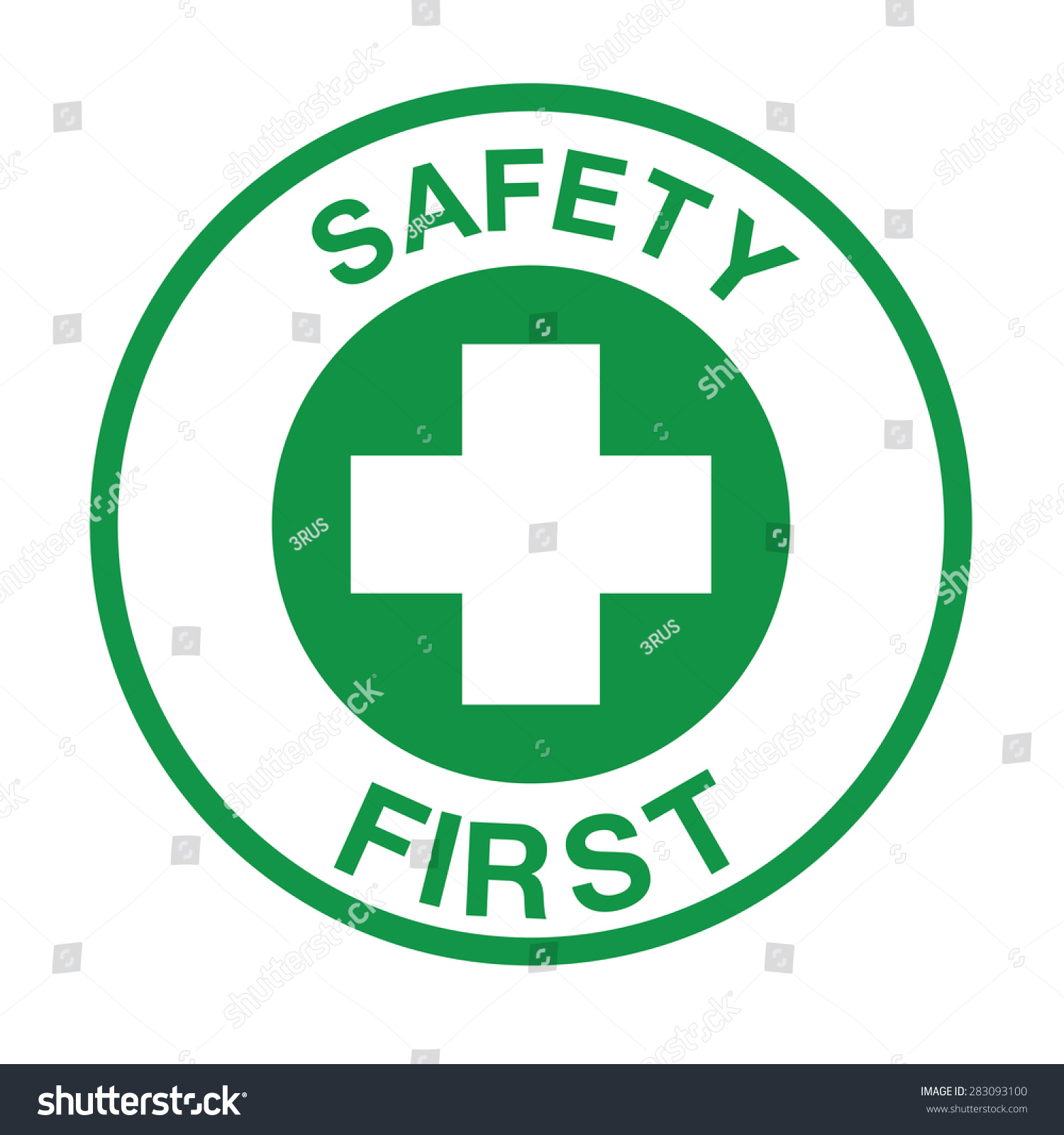 Safety First Symbol Stock Vector Royalty Free 283093100 Shutterstock