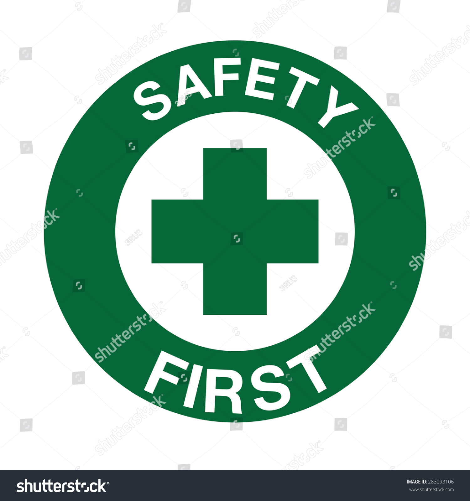 Safety First Symbol Stock Vector Royalty Free 283093106 Shutterstock