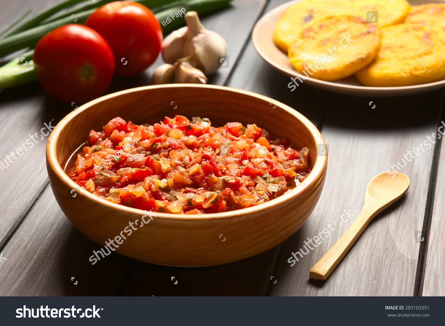 Colombian hogao or criollo sauce (salsa criolla) made of cooked onion ...