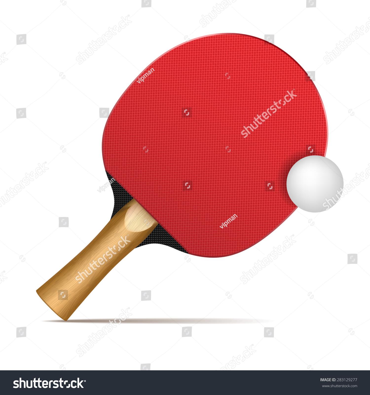 06819129d Vetor stock de Ping Pong Paddles Balls (livre de direitos) 283129277 ...