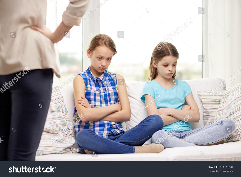 People Children Misbehavior Friends Friendship Concept