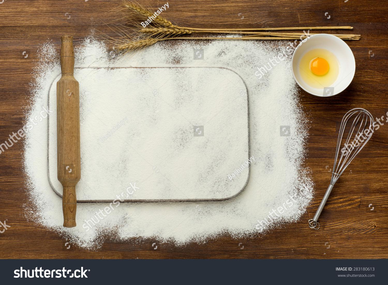 Vintage Kitchen Background ~ Rural vintage wood kitchen table blank stock photo