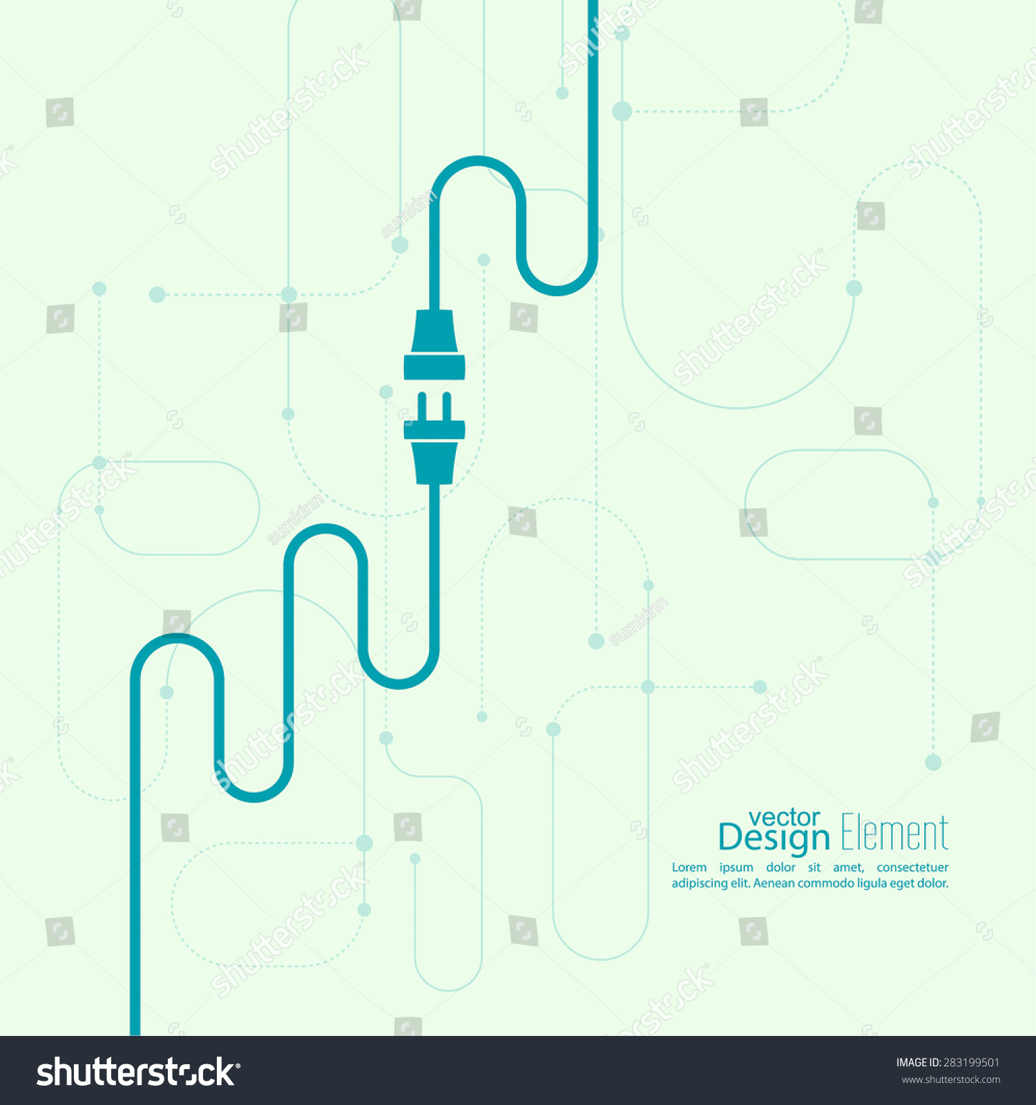 Royalty Free Abstract Background With Wire Plug And 283199501 Sockets Wiring For Electricity Stock Image Socket Photo