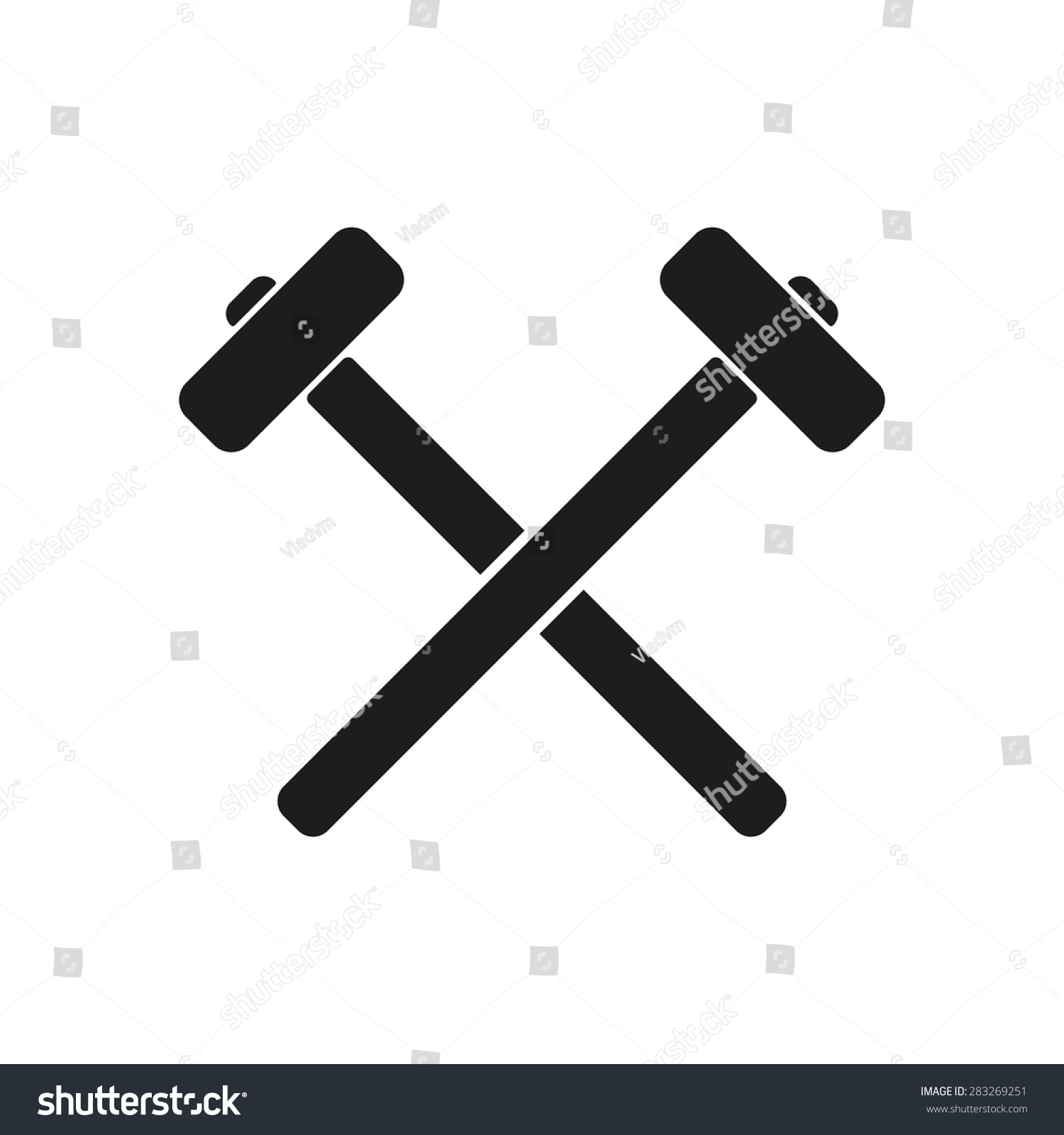 Hammer Icon Sledgehammer Symbol Flat Vector Stock Vector ...