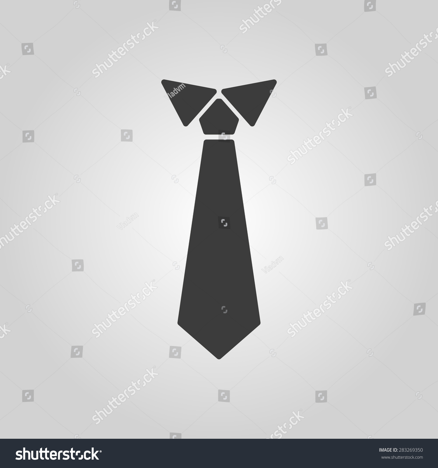 tie icon necktie neckcloth symbol flat stock vector