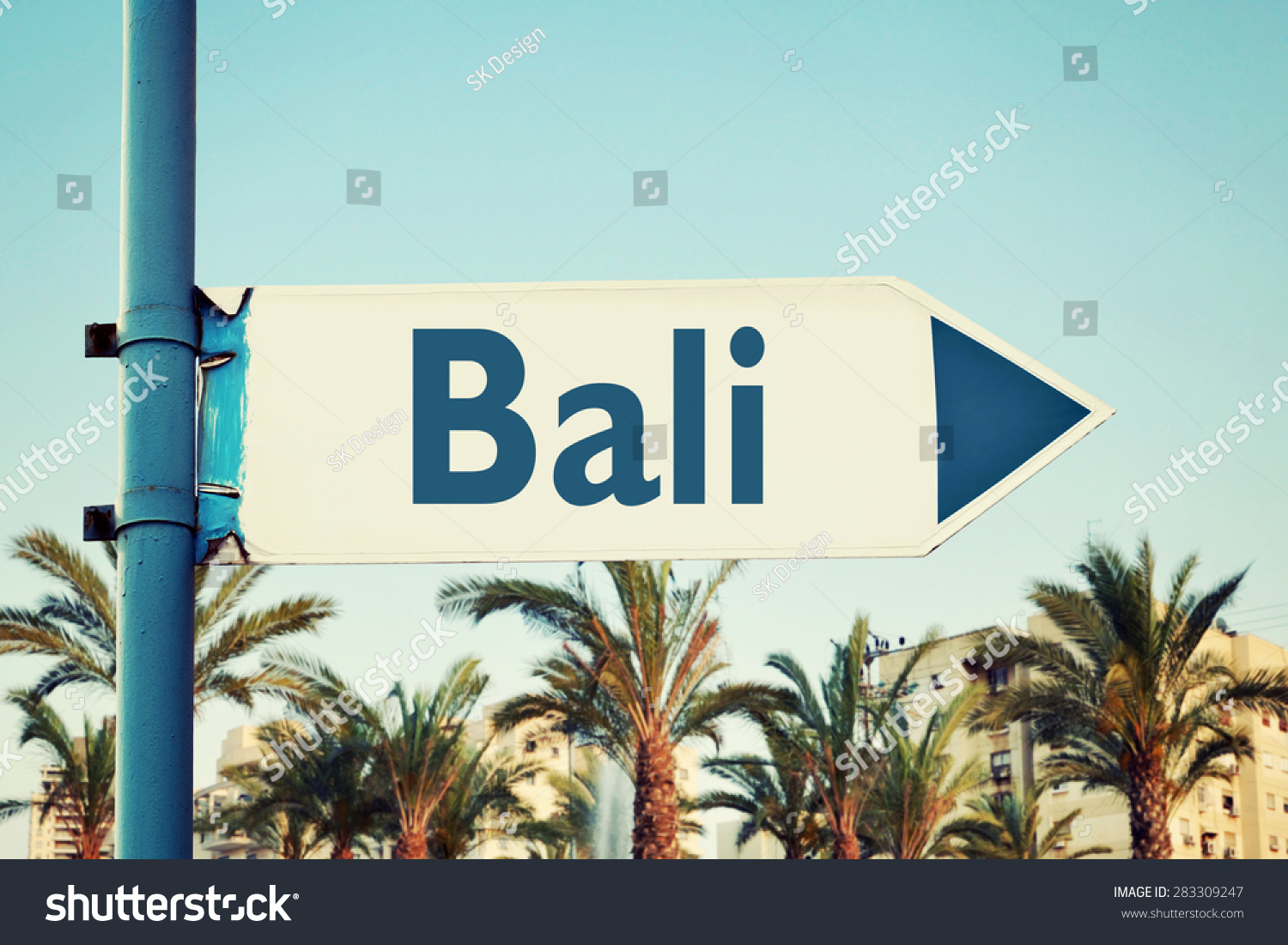 Bali Road Sign Travel Destinations Set Stock Photo    Bali Travel Attractions Map and Things to do in Bali: 35 BALI  NORSK