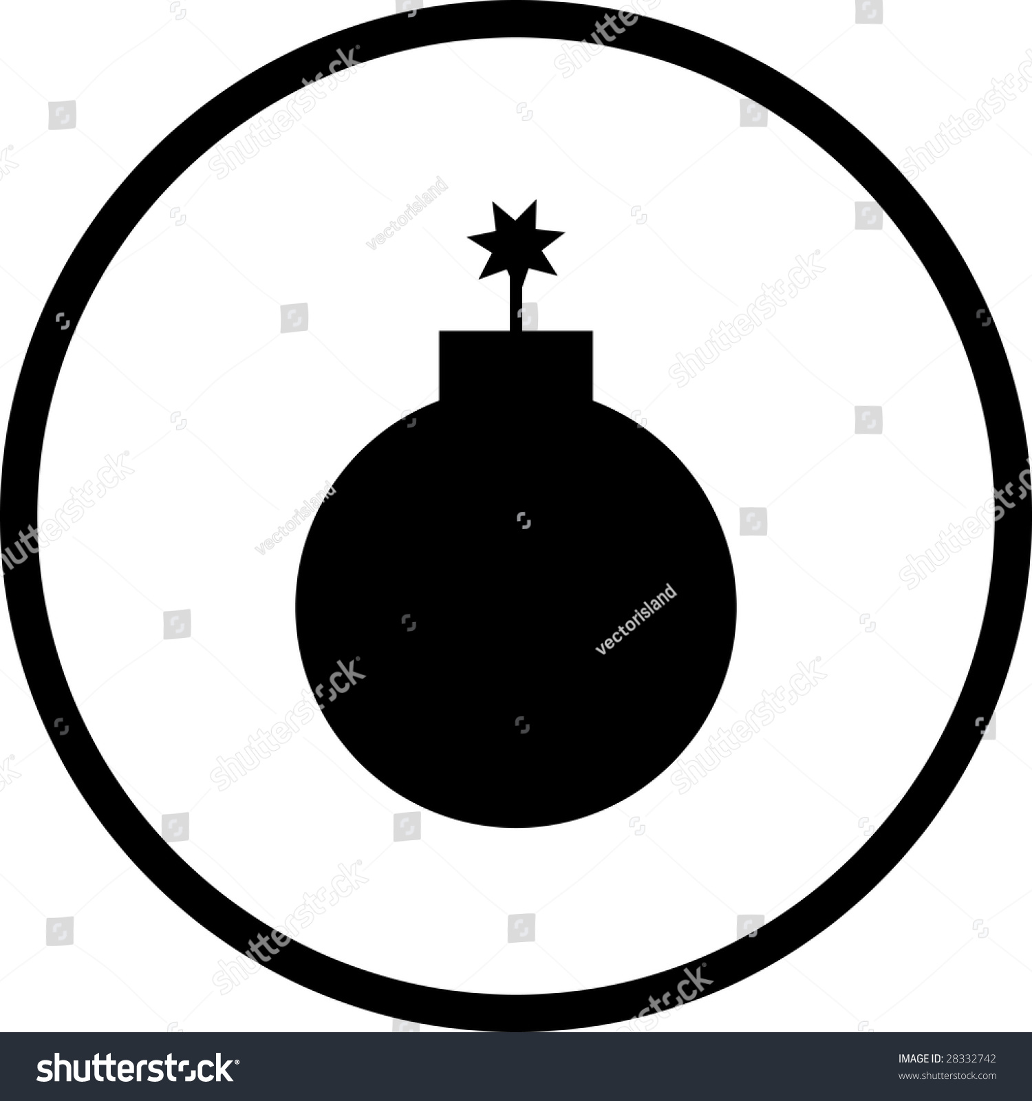 Bomb Symbol Stock Photo 28332742 : Shutterstock