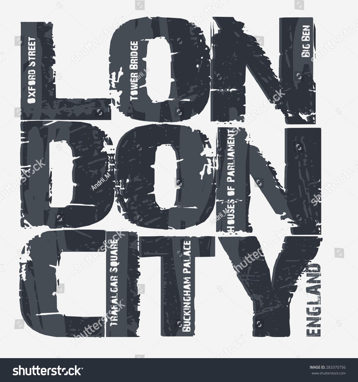 Shirt design london - London City Typography Graphics T Shirt Design England Great Britain Big