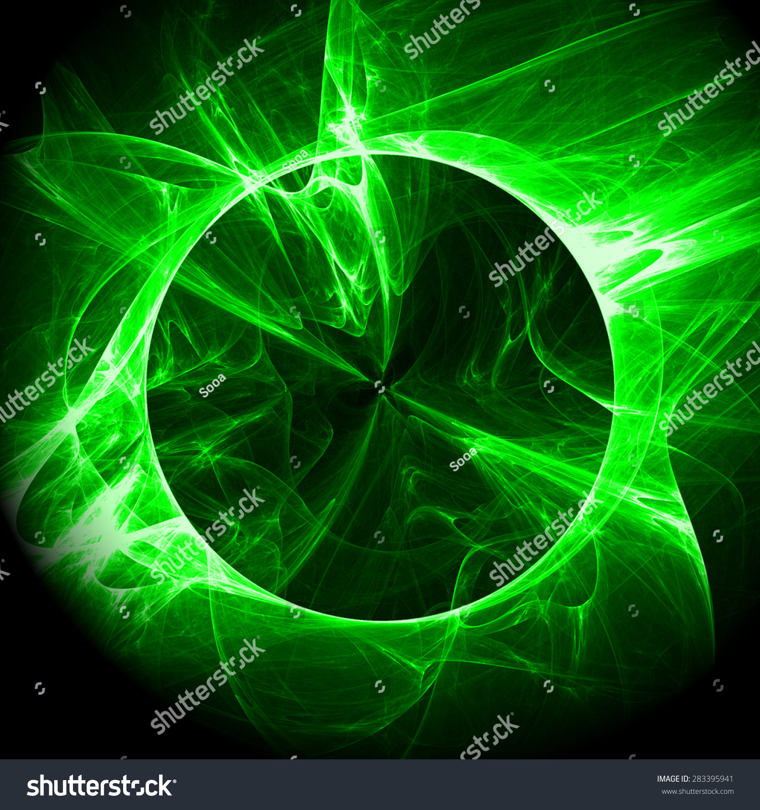 Green Light Effects Abstract Illustration Background Stock ... for Green Light Effects Background  104xkb