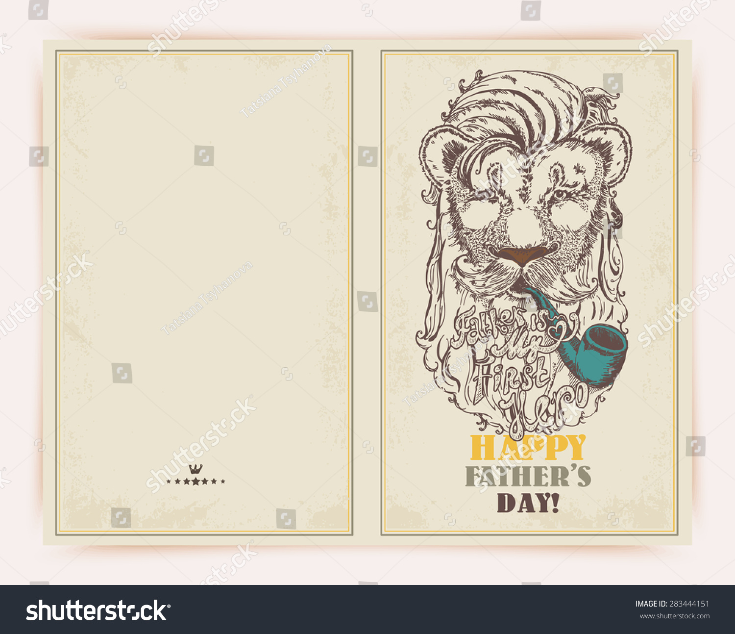 Fathers day hipster greeting card stylish stock photo photo vector fathers day hipster greeting card with stylish text father is my first hero m4hsunfo