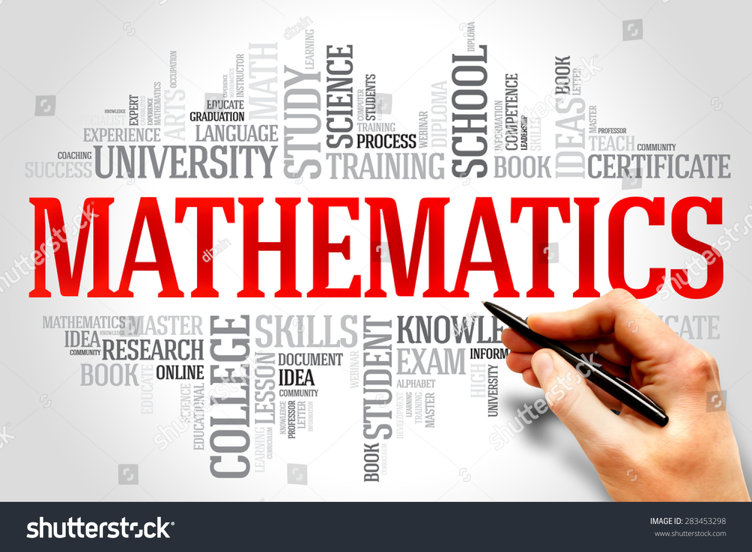 Mathematics Word Cloud Education Concept Stock Photo 283453298 ...