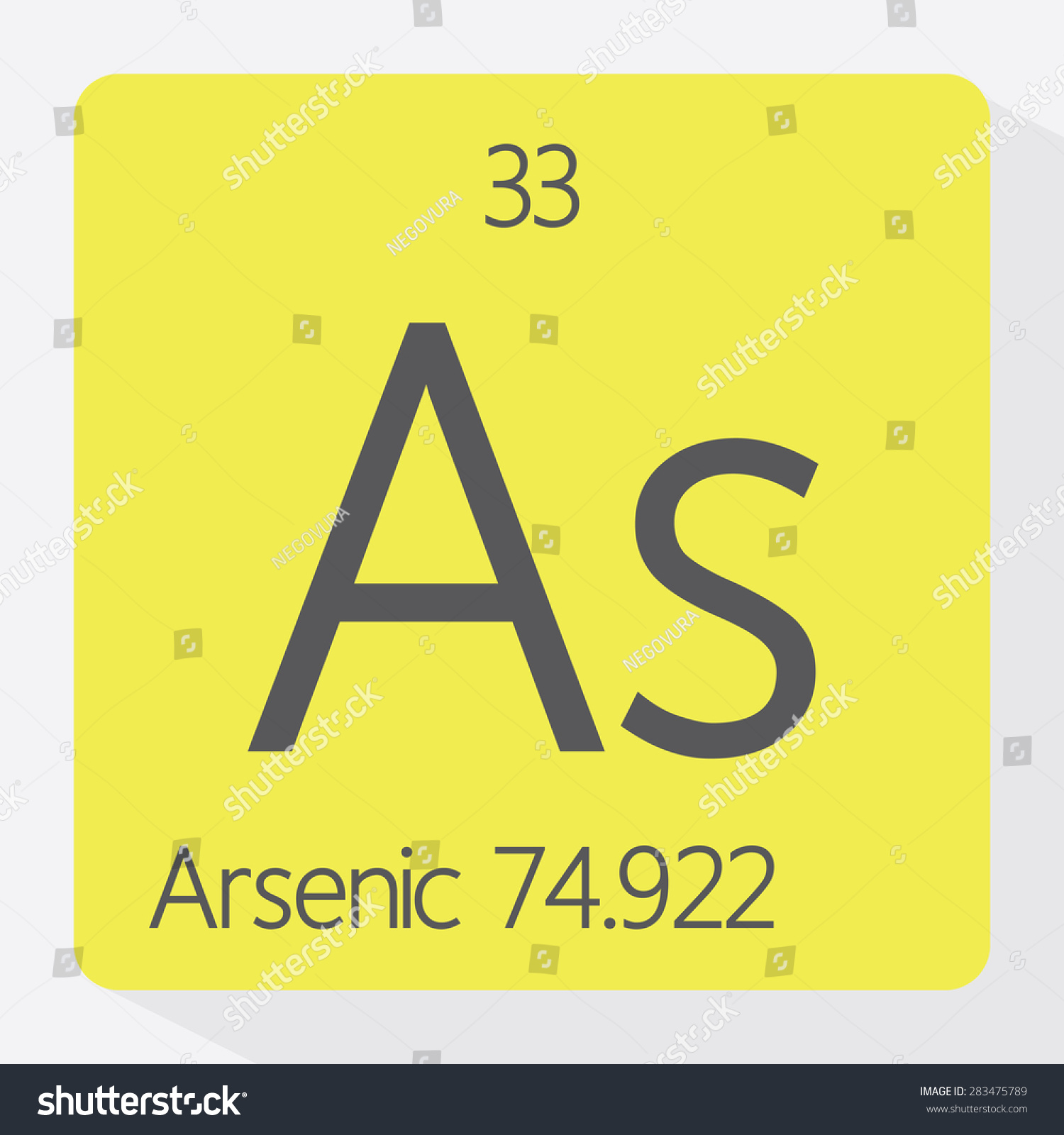Periodic table arsenic stock vector 283475789 shutterstock periodic table arsenic biocorpaavc Image collections