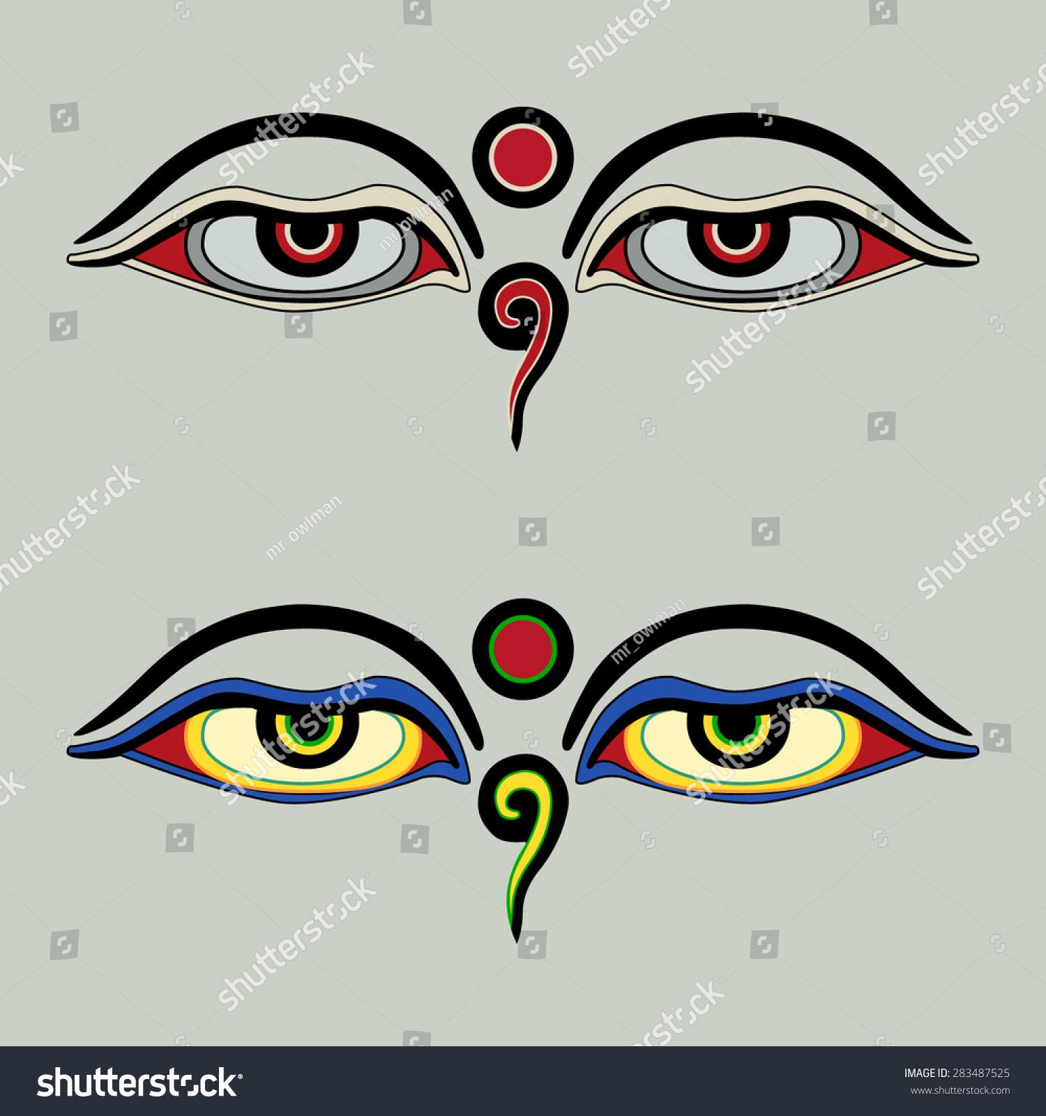 Eyes buddha buddhas eyes buddhist eyes stock vector 283487525 eyes of buddha buddhas eyes buddhist eyes symbol wisdom enlightenment biocorpaavc Images