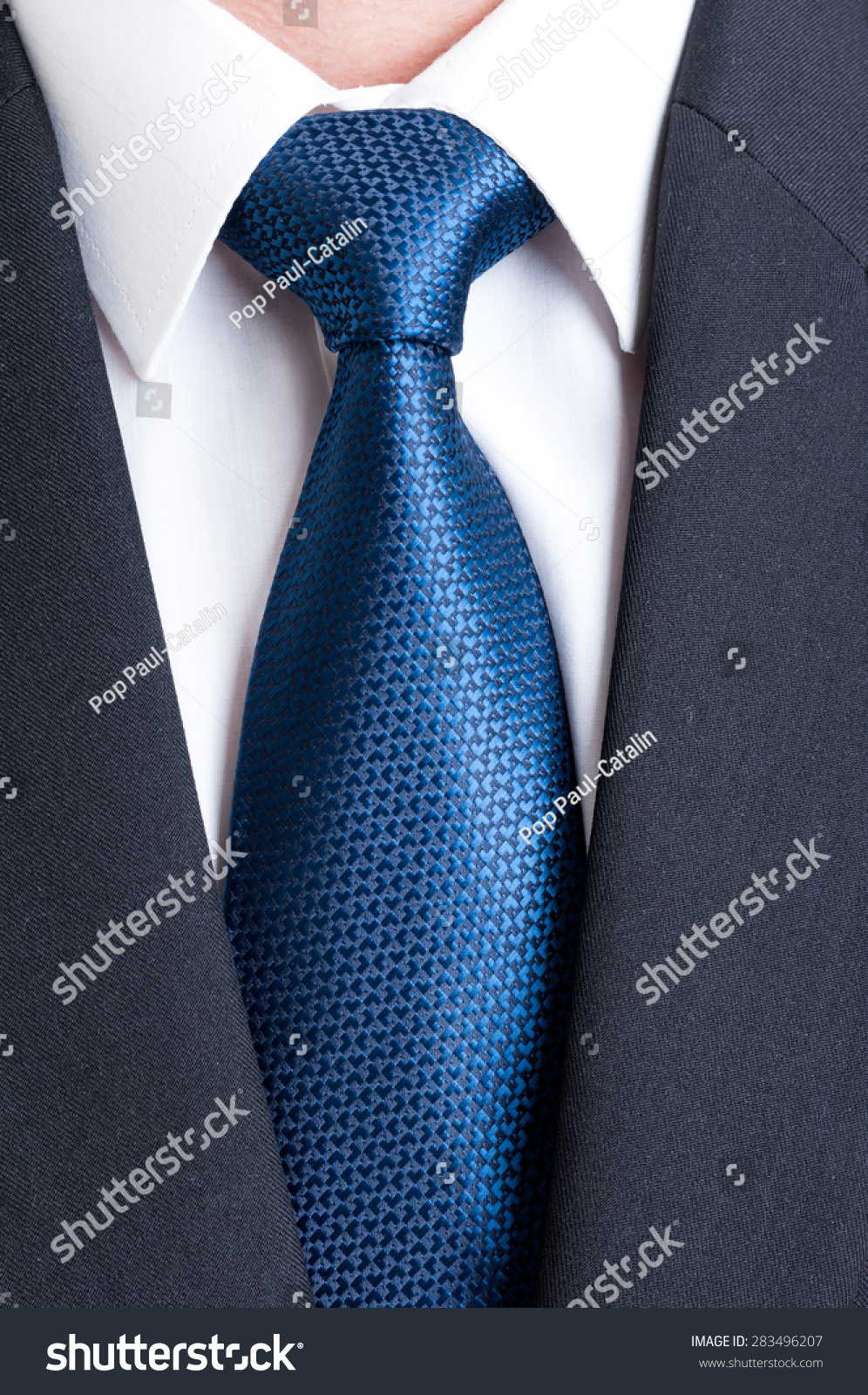 Black Suit White Shirt Blue Tie Stock Photo 283496207 - Shutterstock