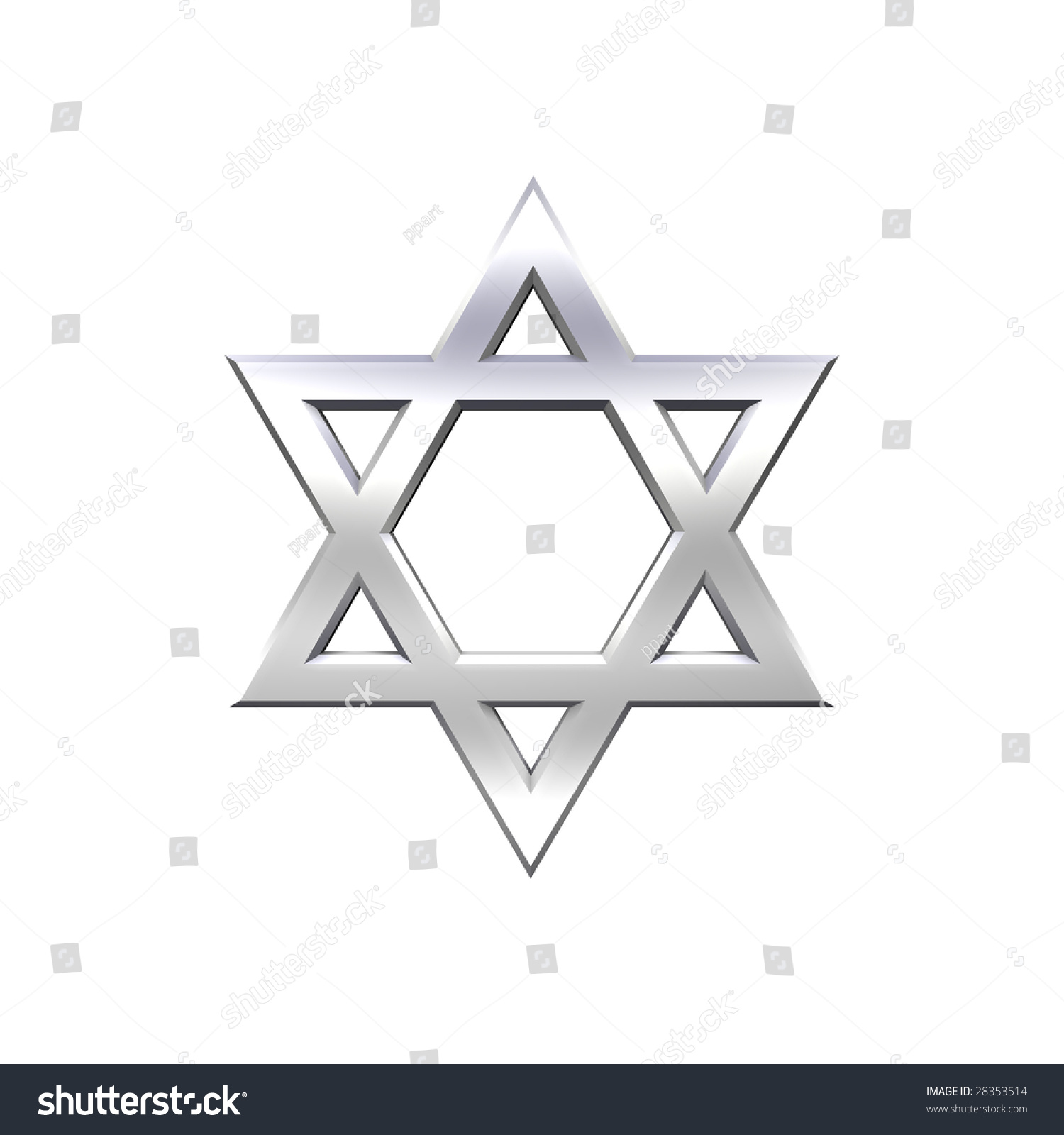 Chrome judaism religious symbol star david stock illustration chrome judaism religious symbol star of david isolated on white computer generated 3d photo biocorpaavc