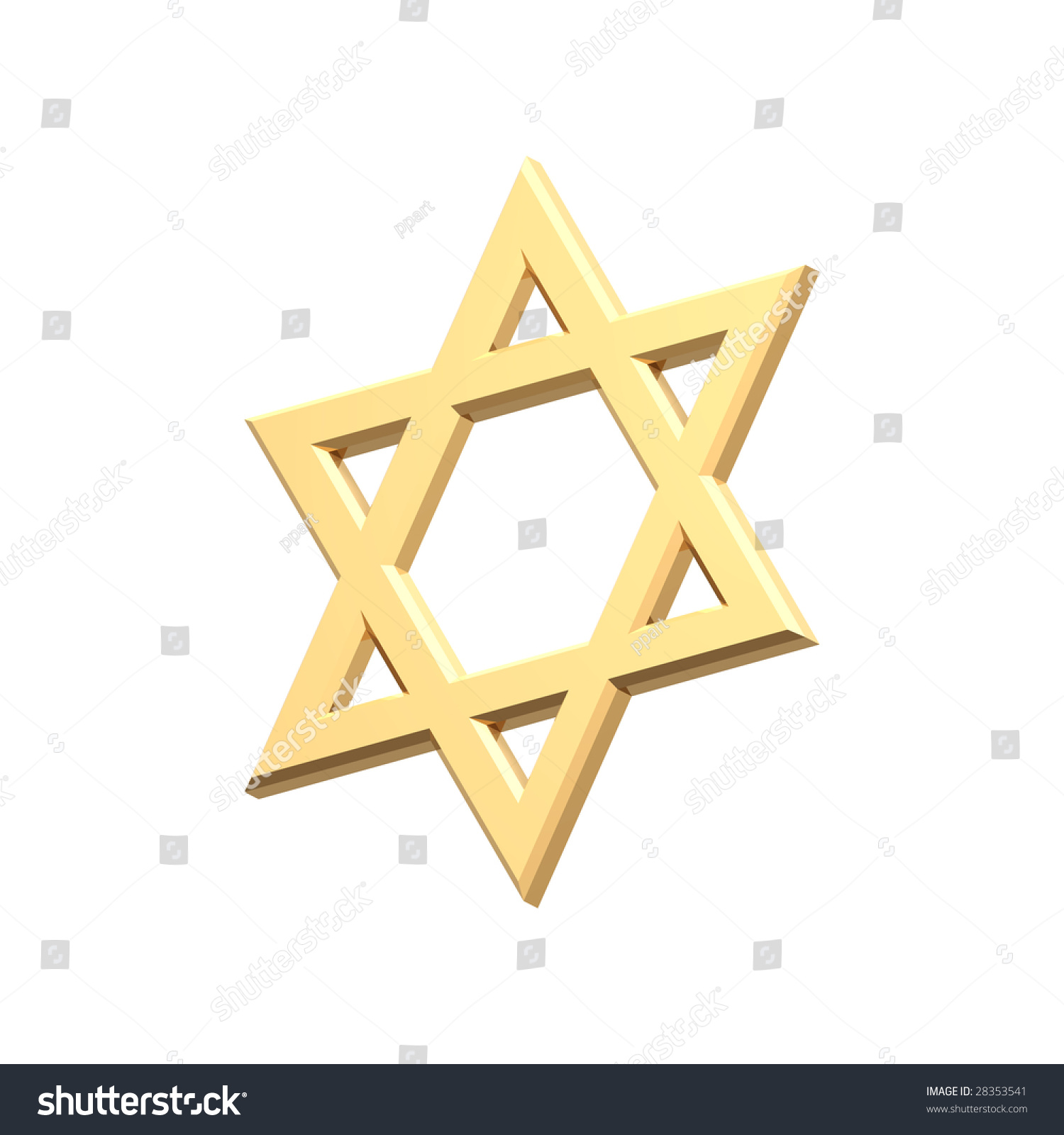 Gold judaism religious symbol star david stock illustration gold judaism religious symbol star of david isolated on white computer generated 3d photo biocorpaavc