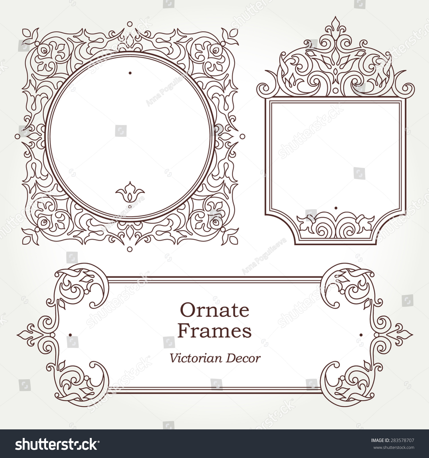 Victorian frame template 65681 vizualize for Decor outline