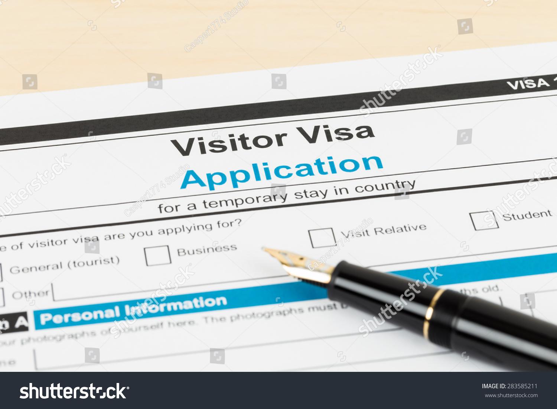 royalty visa application form pen form is 283585211 visa application form pen form is mock up 283585211