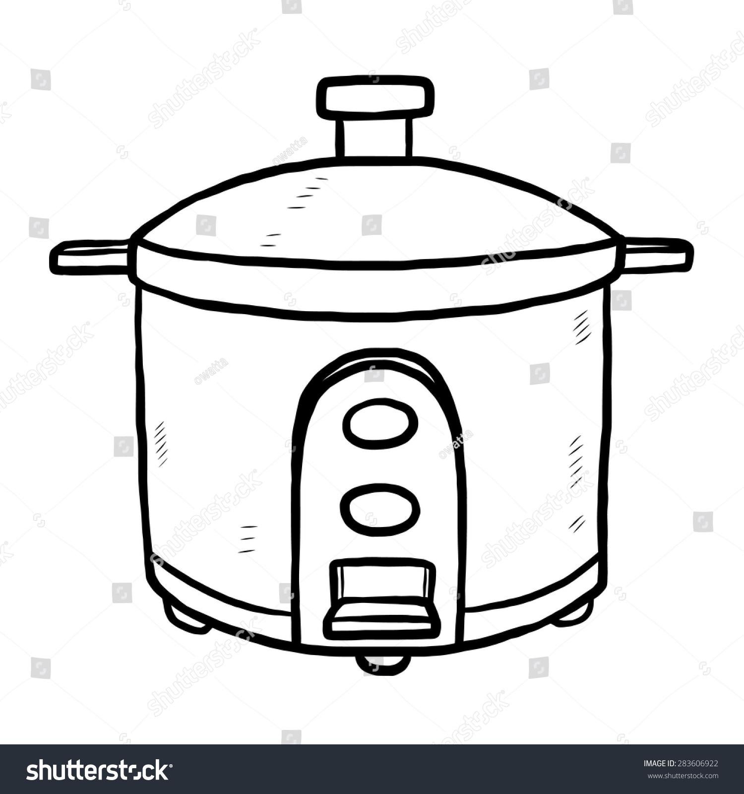 Cartoon Electric Cooker ~ Electric rice cooker cartoon vector illustration stock