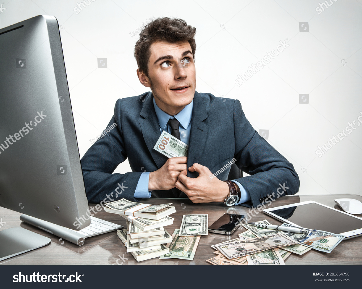Government Official Stealing Money Taxpayers Stock Photo (Edit Now)  283664798