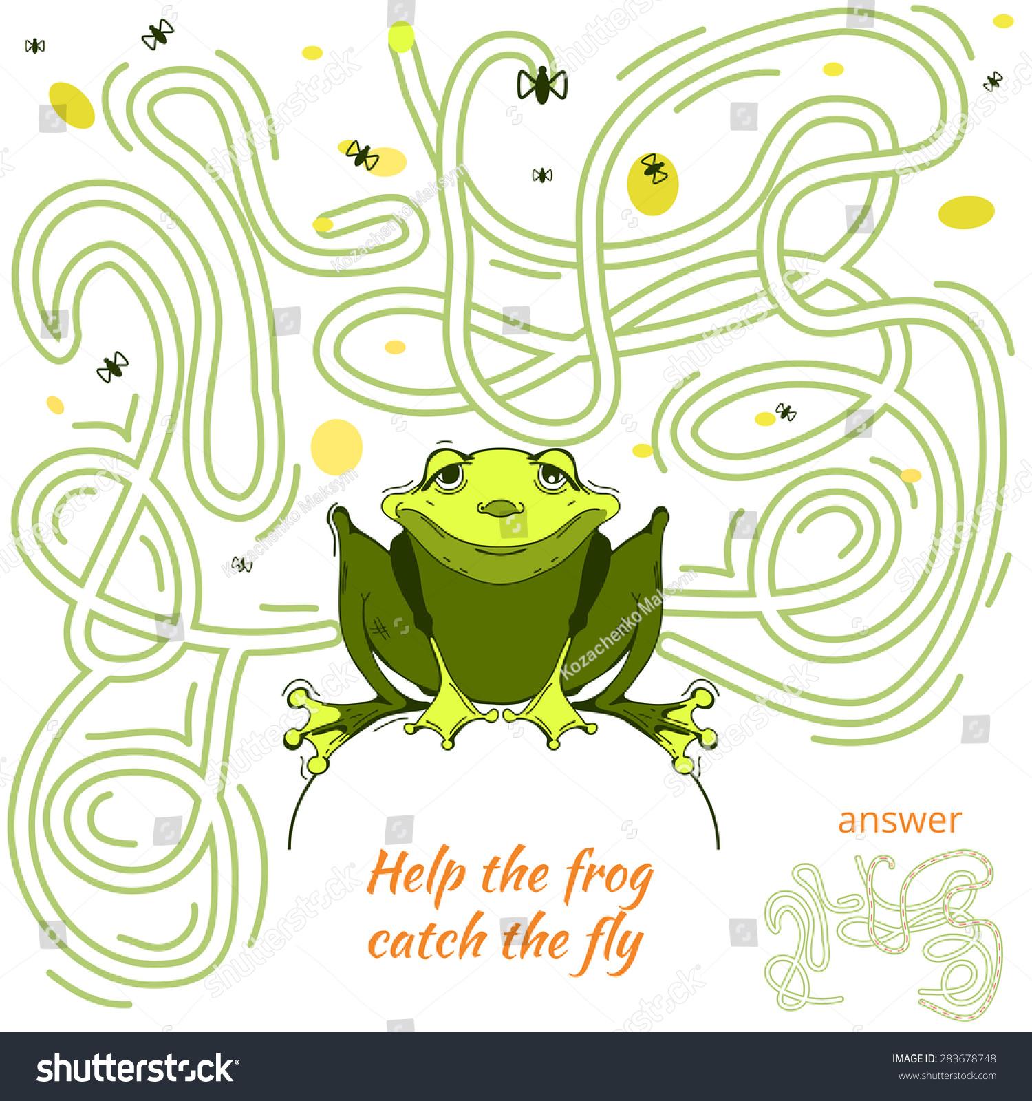 Funny Maze Game Kids Maze Labyrinth Stock Vector (2018) 283678748 ...