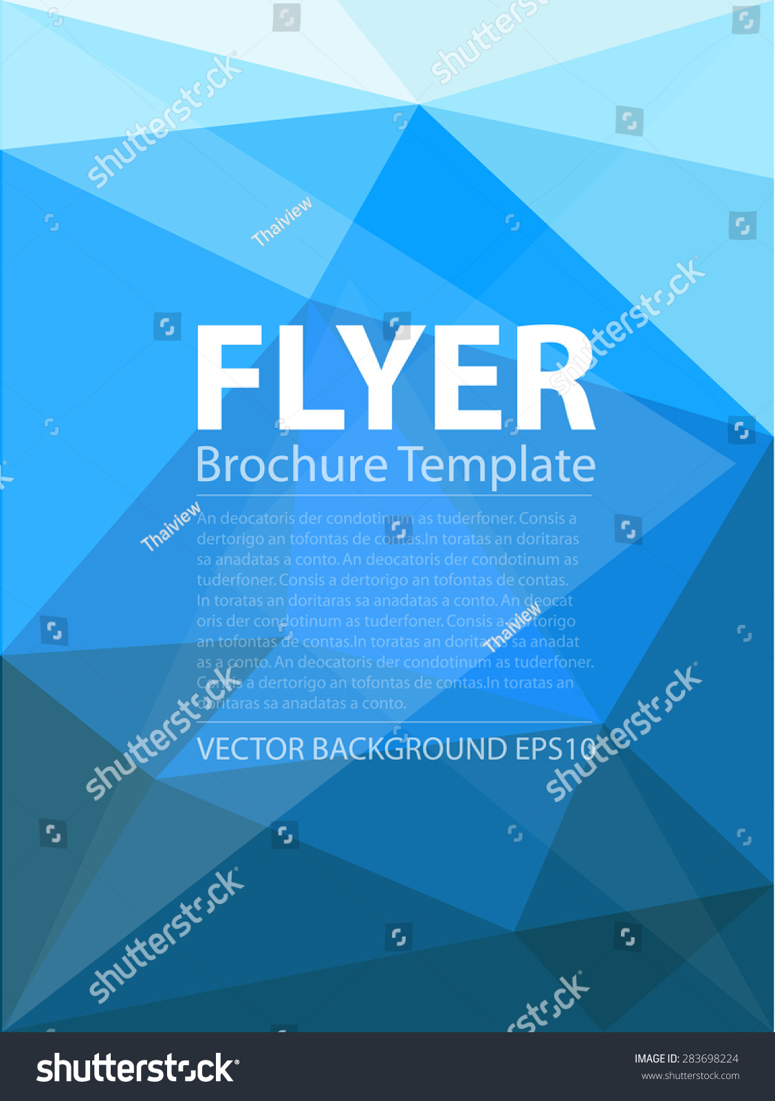 blue triangle polygonal vector background brochure のベクター画像