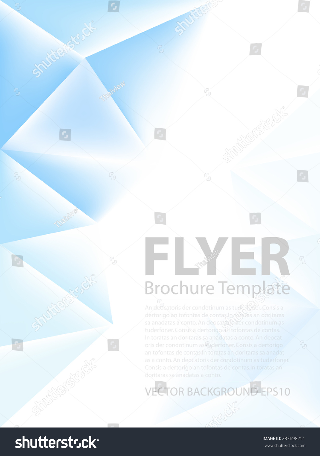 blue triangle polygonal vector background brochure stock vector