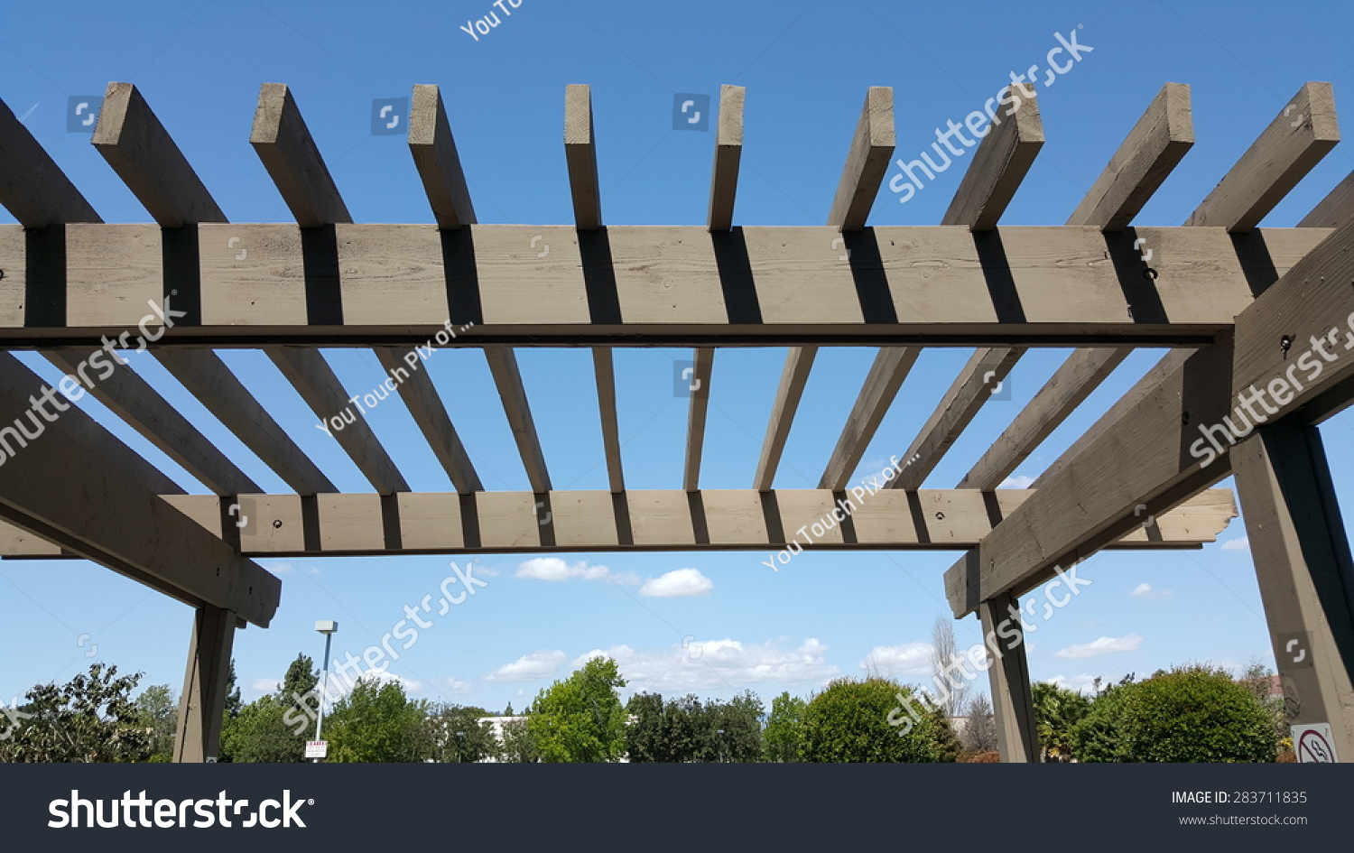 Outdoor Portland Wooden Pergola