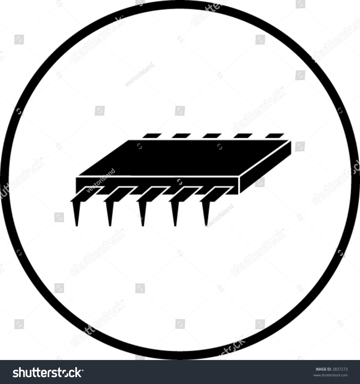 Integrated Circuit Symbol Stock Vector Royalty Free 2837273