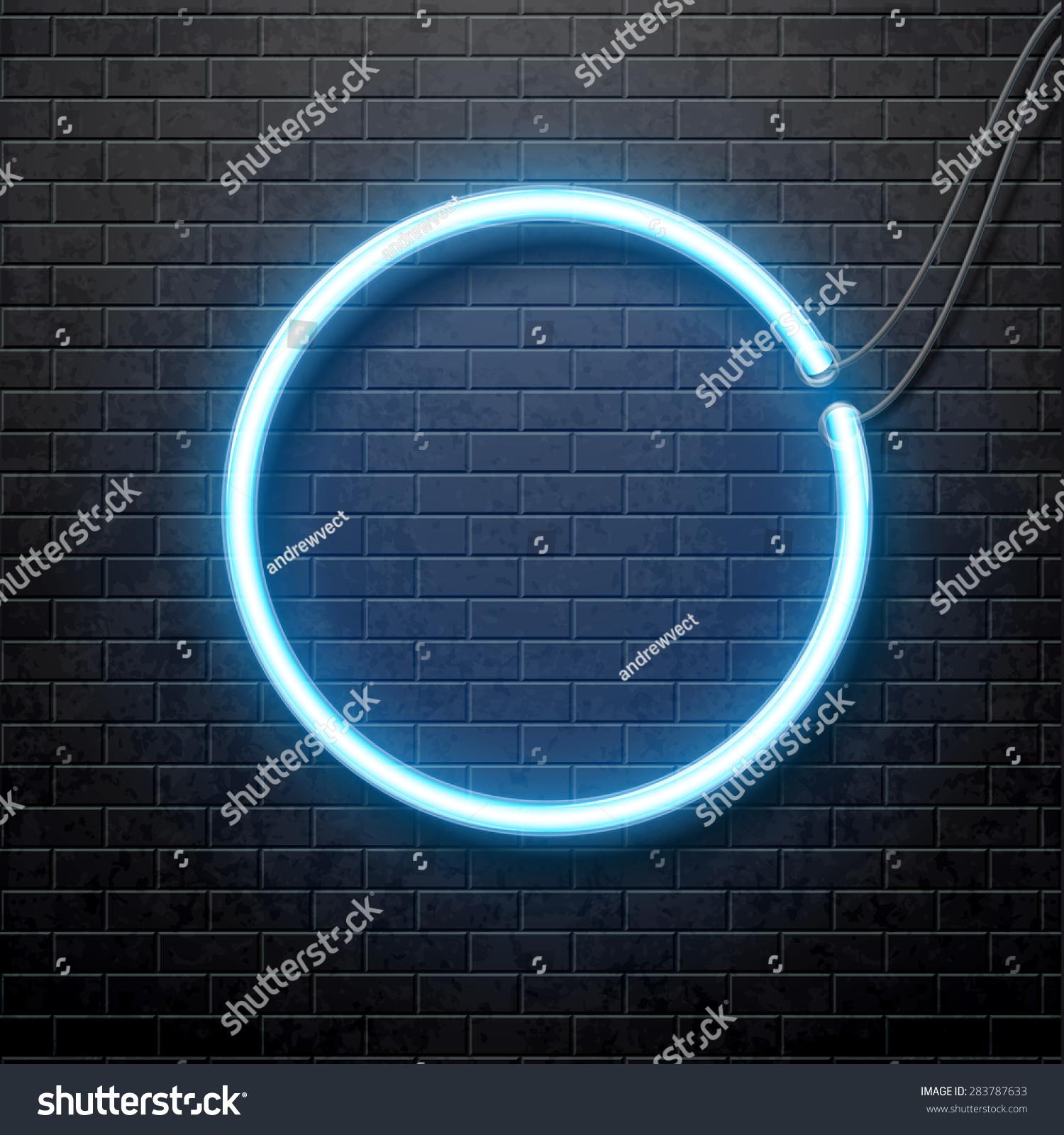Dark Blue Circlepng: Neon Circle Stock Vector 283787633