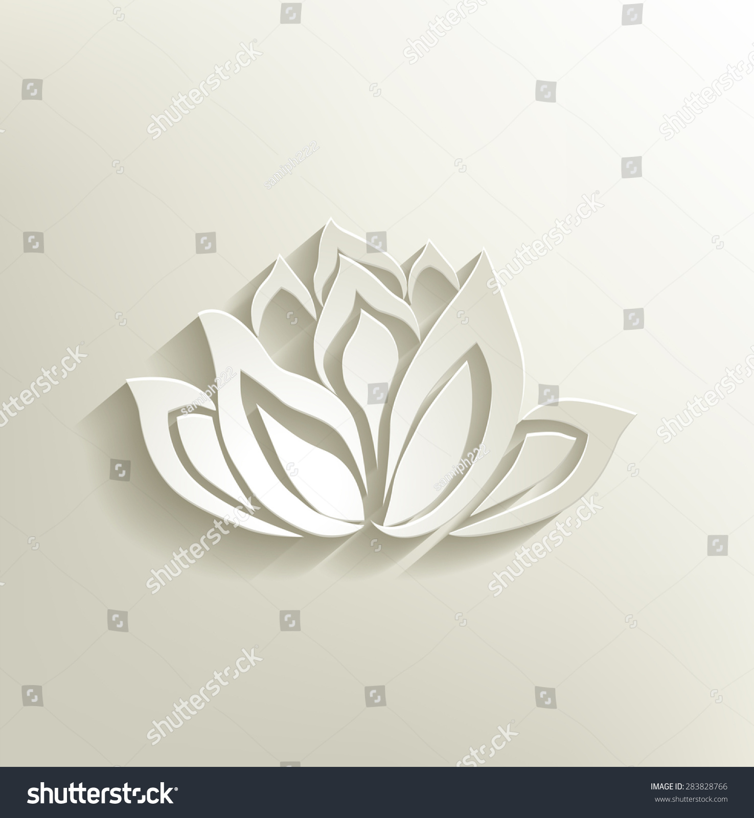 Lotus flower lotus flower design spa stock vector 283828766 lotus flower lotus flower design for spa yoga class resort vector illustration izmirmasajfo