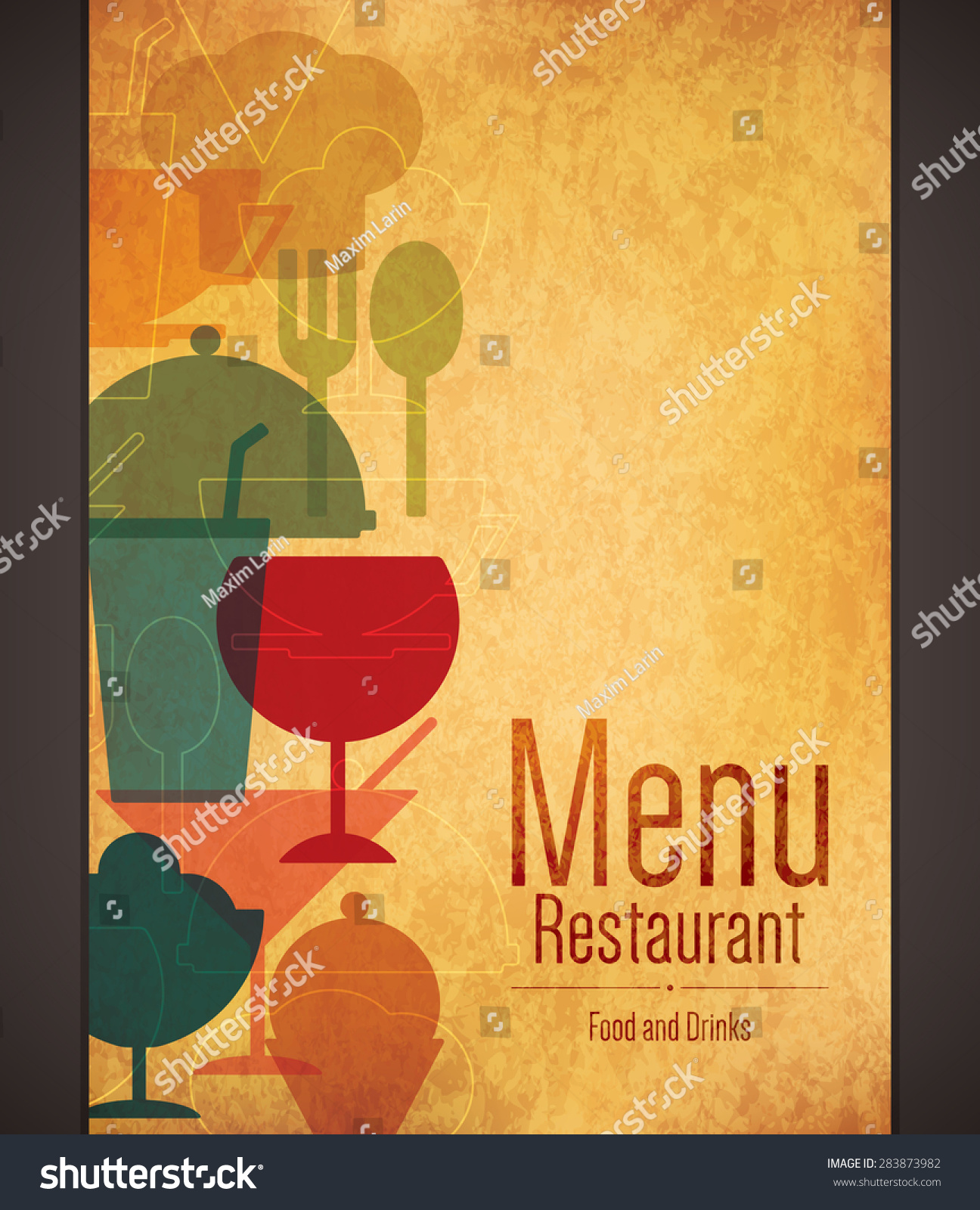 Restaurant menu design vector brochure template stock