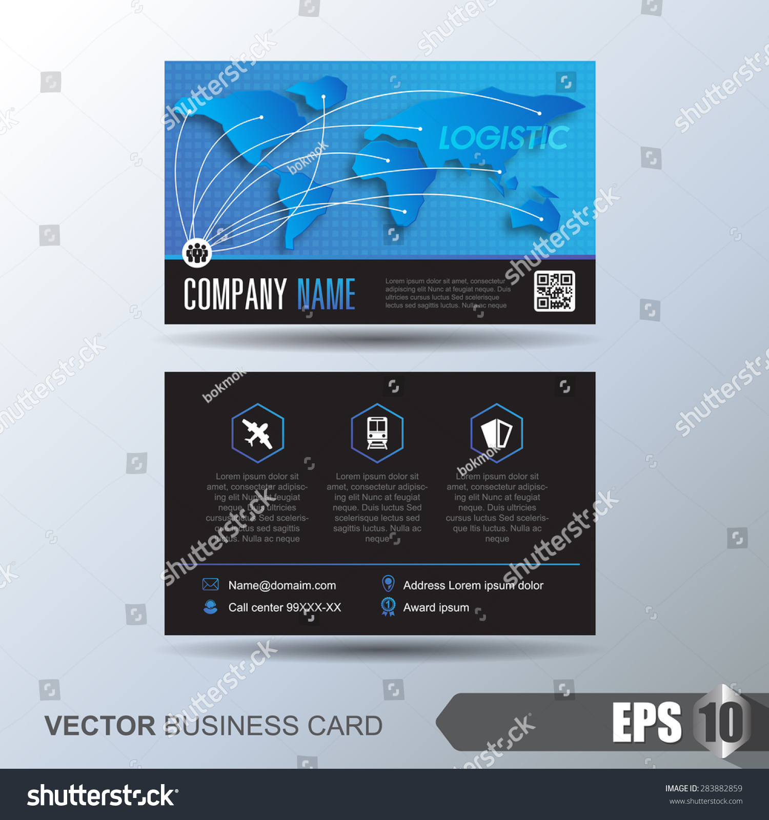 Modern Simple Business Card Template Business Stock Vector ...