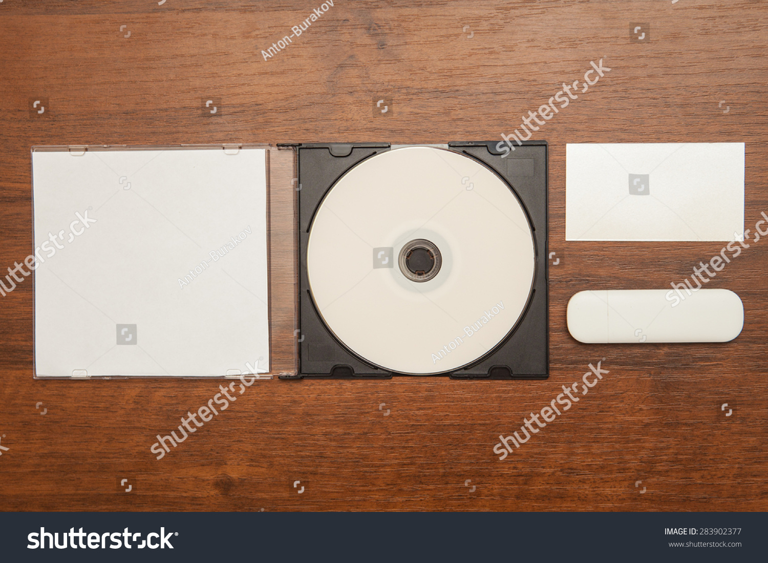 Dvd Rom Business Cards Flash Card Stock Photo (Royalty Free ...