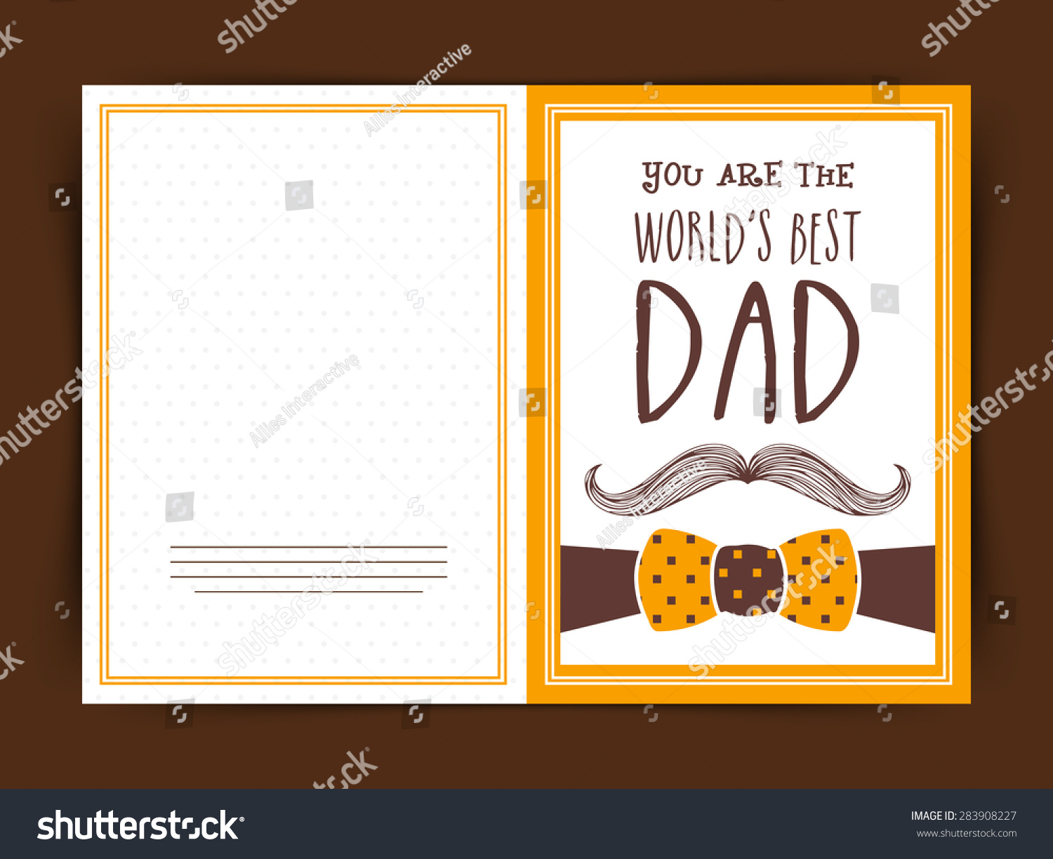 Worlds Best Dad Greeting Card Design Stock Vector 283908227