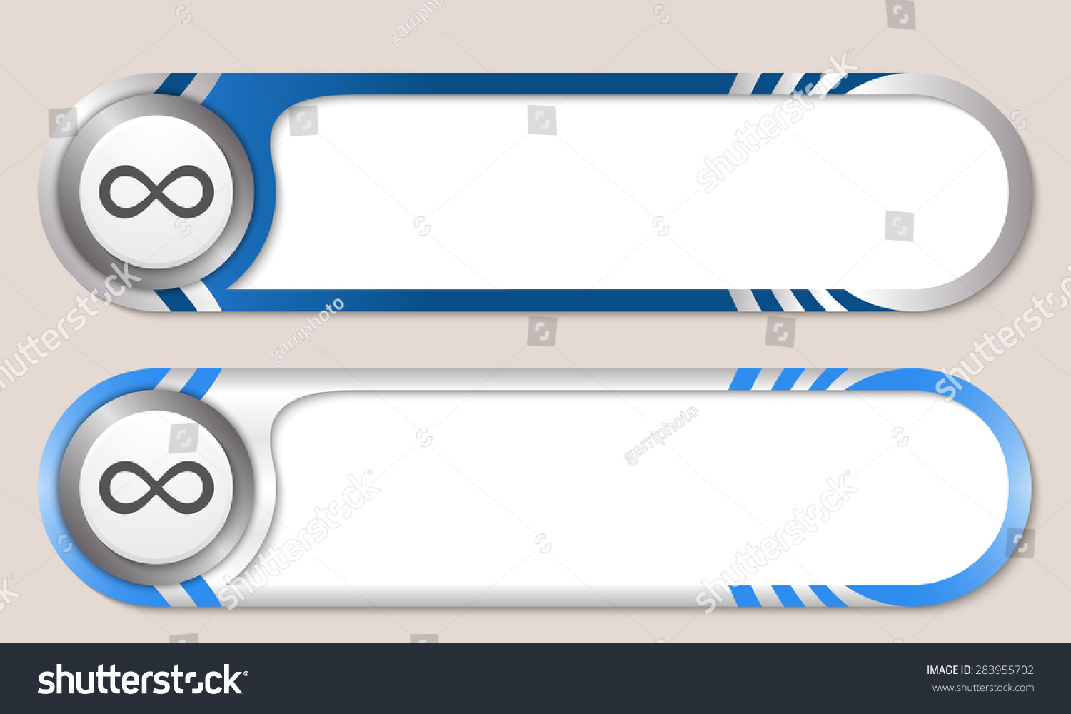 Vector buttons your text infinity symbol stock vector 283955702 vector buttons for your text and infinity symbol biocorpaavc