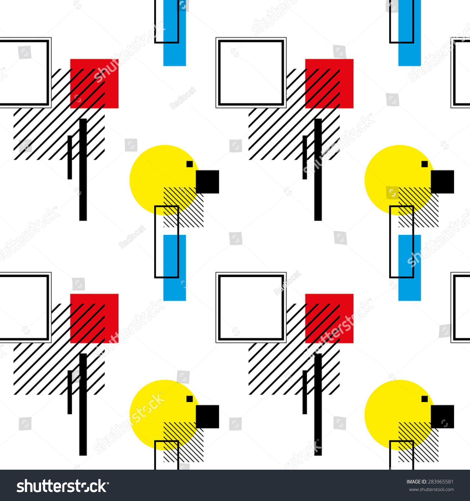 What Is Bauhaus Style seamless pattern retro bauhaus style 2 stock vector 283965581