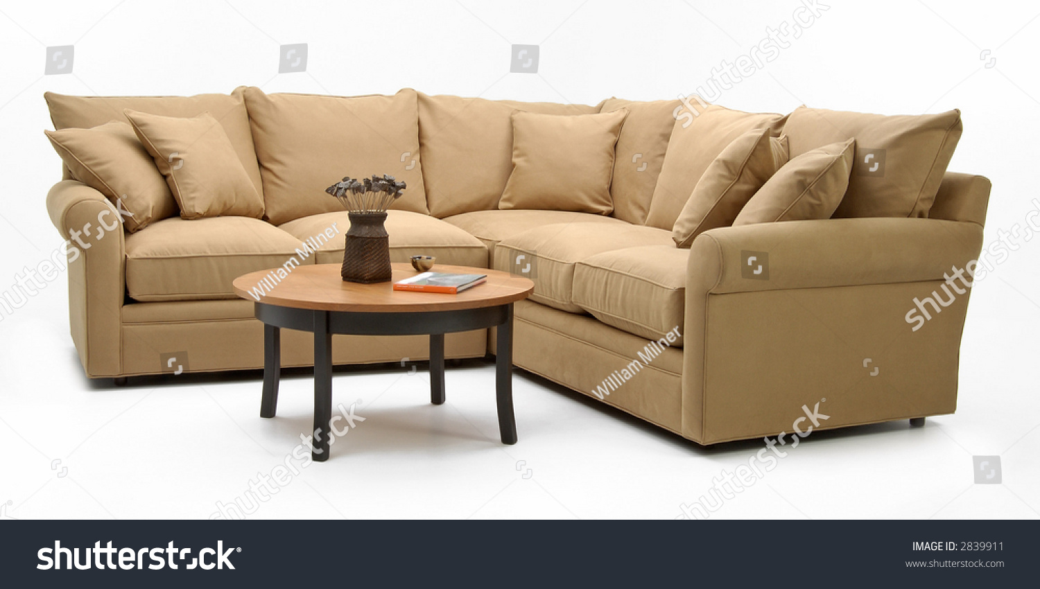 Sectional Sofa Coffee Table Stock Photo 2839911 Shutterstock