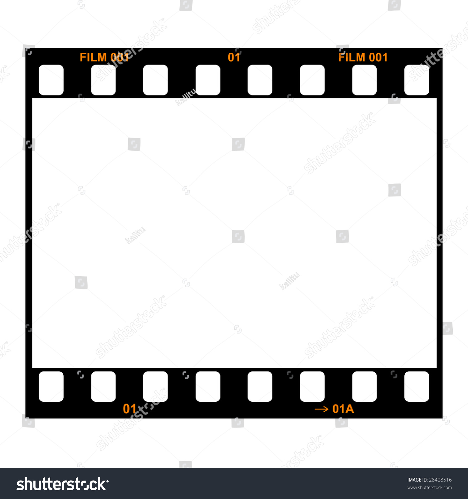 Film Strip Single Frame Stock Illustration 28408516 - Shutterstock