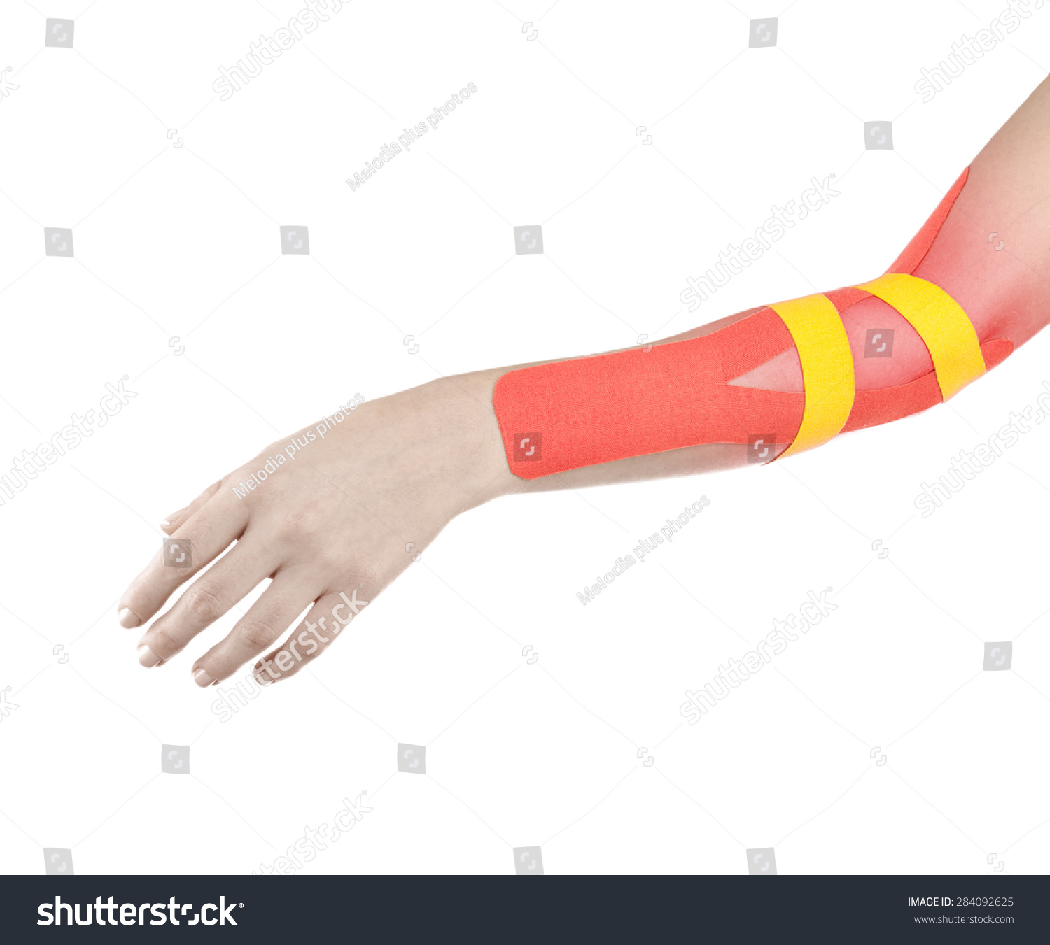 Human elbow pain with an anatomy injury caused by sports accident or ...