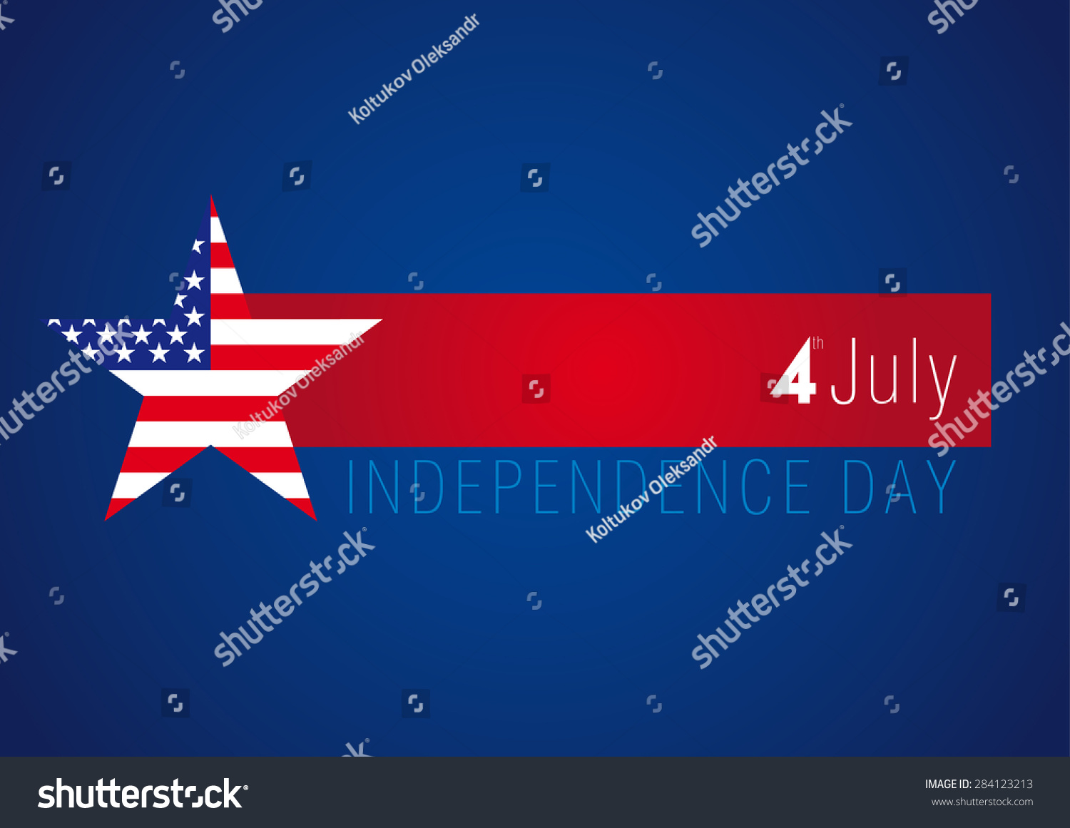 Independence Day Usa Vector Card 4 Stock Vector 284123213 Shutterstock