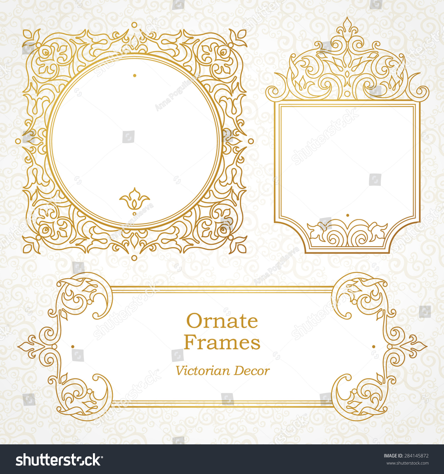 I Designed A Vintage Looking Border Art For You To Use In: Vector Decorative Frame In Victorian Style. Elegant