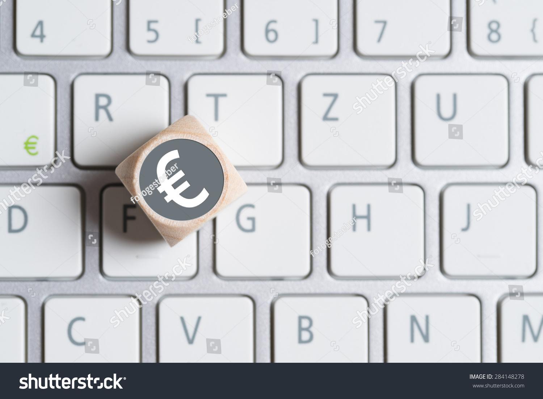 Euro Keyboard Simple French Euro Language Keyboard Blue Label