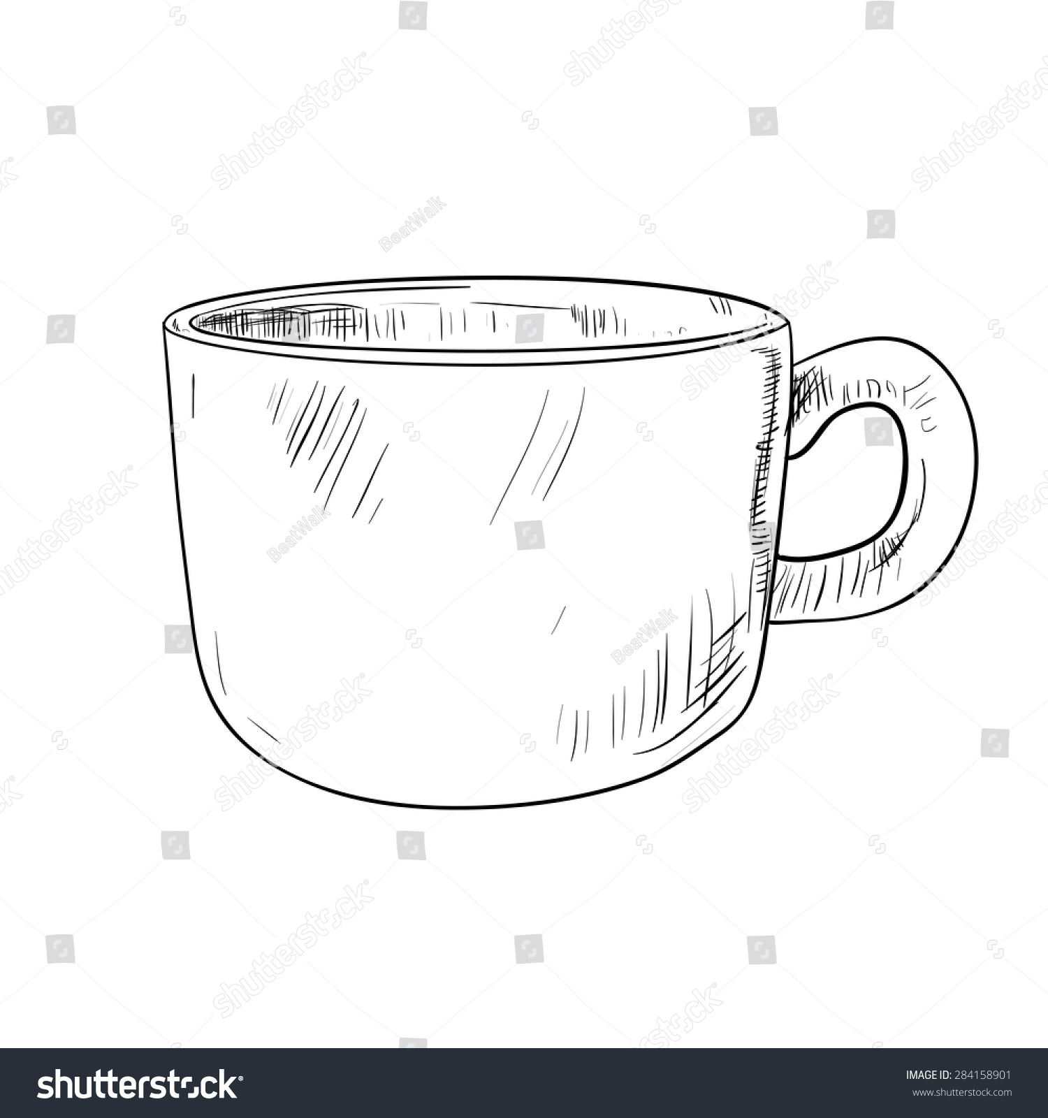 Vector Sketch Cup Hand Draw Illustration Stock Vector 284158901 ...