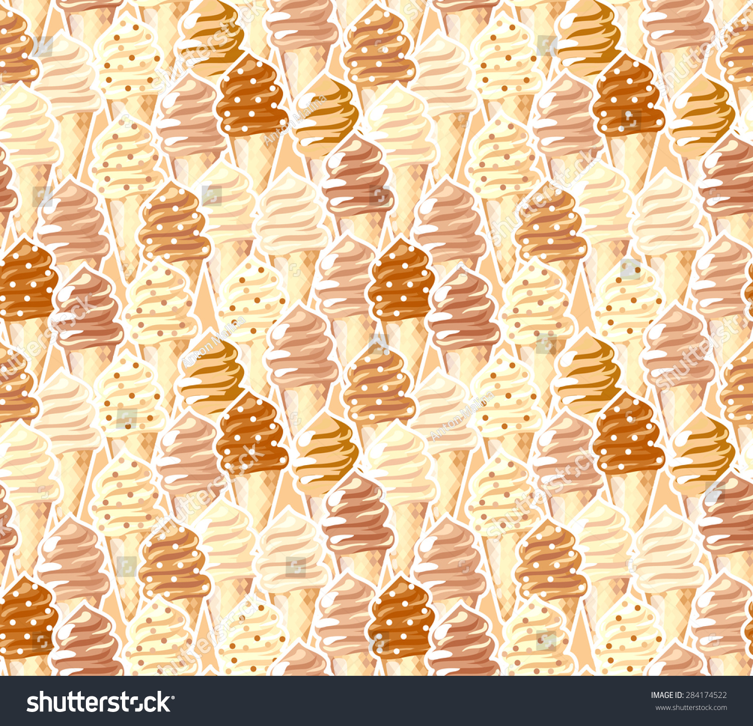 Vintage Beige Background Abstract Seamless Pattern Stock