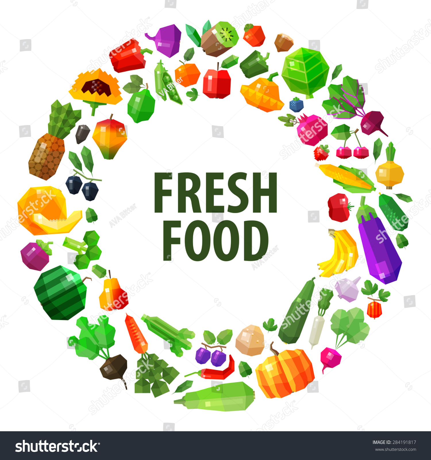 Fresh food vector logo design template stock vector for Fresh design