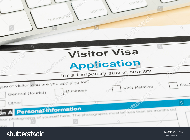 royalty visa application form keyboard 284212340 visa application form keyboard form is mock up 284212340
