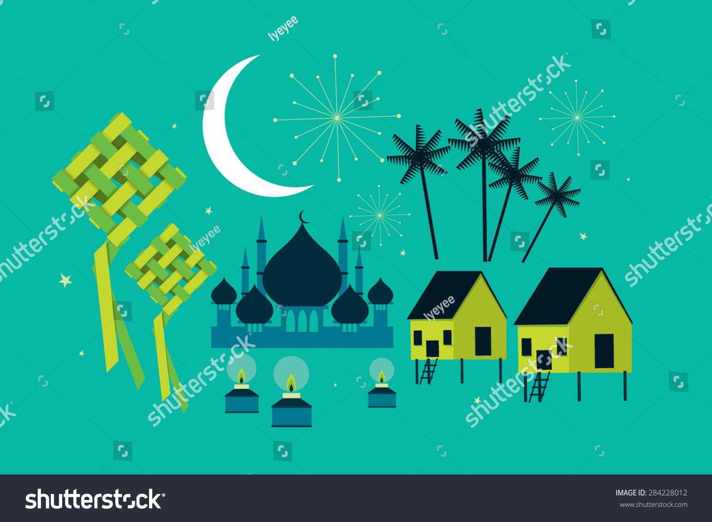 Hari Raya Elements Vector/Illustration - 284228012 : Shutterstock